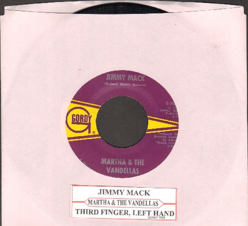Martha & The Vandellas - Jimmy Mack/Third Finger, Left Hand  (NICE condition with juke box label) - NM9/ - 45 rpm Records