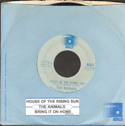 Animals - House Of The Rising Sun/Bring It On Home (double-hit re-issue with juke box label and Abkco compamy sleeve) - NM9/ - 45 rpm Records