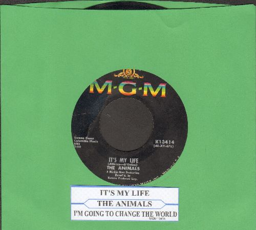 Animals - It's My Life/I'm Going To Change The World (with juke box label) - VG7/ - 45 rpm Records
