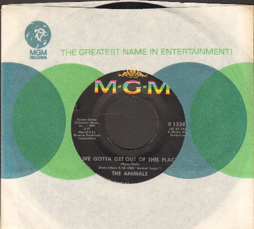 Animals - We Gotta Get Out Of This Place/I Can't Believe It (with MGM company sleeve) - EX8/ - 45 rpm Records