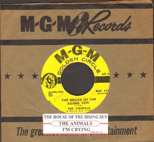 Animals - The House Of The Rising Sun/I'm Crying (authntic-looking yellow label early re-issue with MGM company sleeve and juke box label) - NM9/ - 45 rpm Records