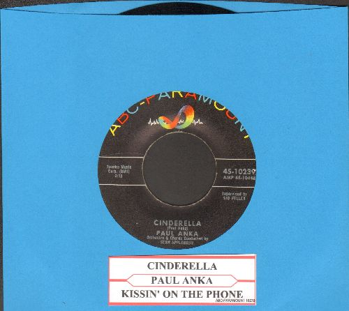 Anka, Paul - Cinderella/Kissin' On The Phone (with juke box label) - EX8/ - 45 rpm Records