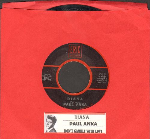 Anka, Paul - Diana/Don't Gamble With Love (1970s re-issue with juke box label) - VG7/ - 45 rpm Records
