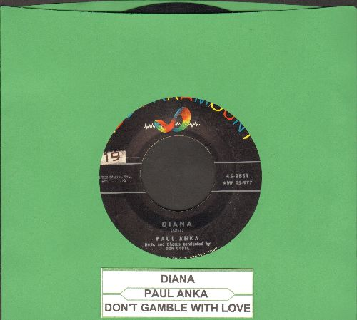 Anka, Paul - Diana/Don't Gamble With Love (with juke box label) - VG7/ - 45 rpm Records