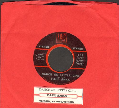 Anka, Paul - Dance On Little Girl/Tonight, My Love, Tonight (double-hit re-issue with juke box label) - NM9/ - 45 rpm Records