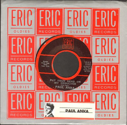 Anka, Paul - Put Your Head On My Shoulder/Summer's Gone (double-hit re-issue with Eric company sleeve) - EX8/ - 45 rpm Records