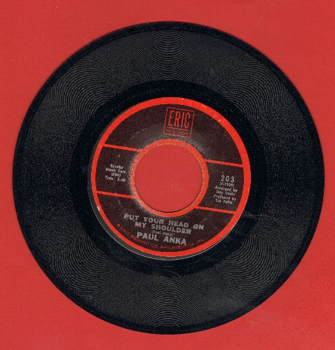 Anka, Paul - Put Your Head On My Shoulder/Summer's Gone (double-hit re-issue with juke box label and Eric company sleeve) - VG7/ - 45 rpm Records