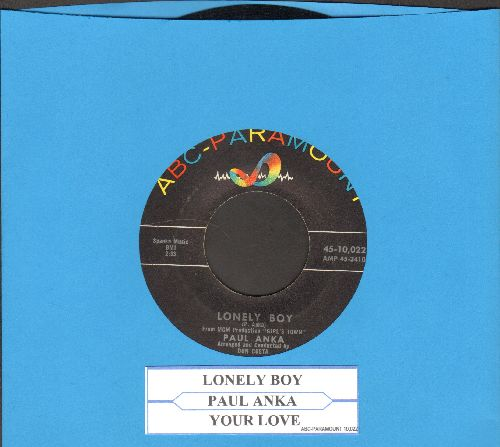 Anka, Paul - Lonely Boy/Your Love (with juke box label) - EX8/ - 45 rpm Records