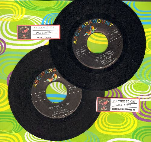 Anka, Paul - 2 for 1 Special: It's Time To Cry/(All Of A Sudden) My Heart Sings (2 vintage first issue 45rpm records with juke box labels for the price of 1!) - EX8/ - 45 rpm Records