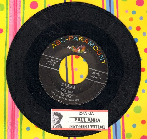 Anka, Paul - Diana/Don't Gamble With Love (with juke box label) (sol) (wol) - EX8/ - 45 rpm Records