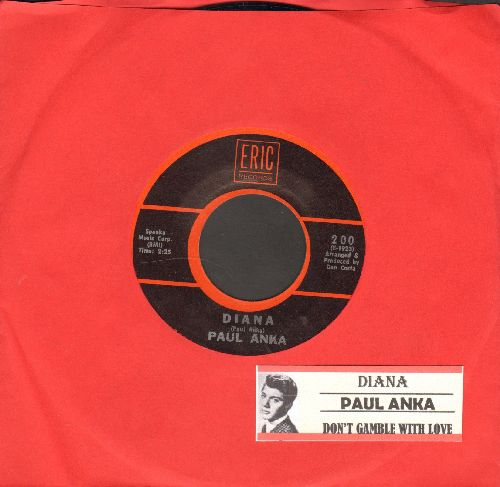Anka, Paul - Diana/Don't Gamble With Love (1970s re-issue with juke box label) - NM9/ - 45 rpm Records