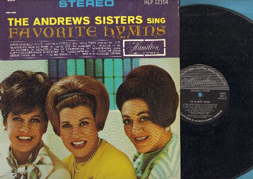 Andrews Sisters - Favorite Hymns: Just A Closer Walk With Thee, I Believe, It Is No Secret (vinyl STEREO LP record) - EX8/NM9 - LP Records