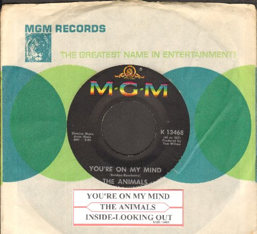 Animals - You're On My Mind/Inside-Looking Out (with juke box label and MGM company sleeve) - NM9/ - 45 rpm Records
