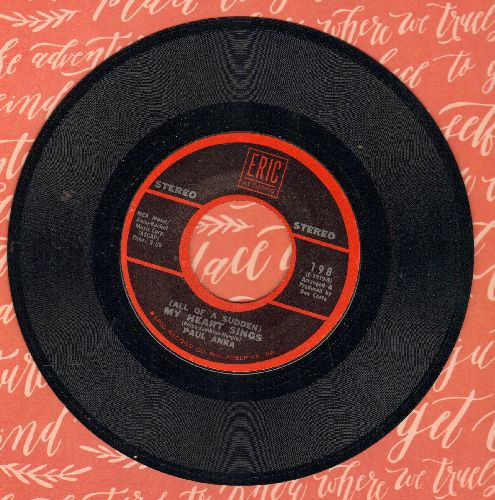 Anka, Paul - (All Of A Sudden) My Heart Sings/My Home Town (double-hit re-issue) - EX8/ - 45 rpm Records