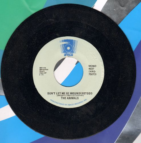 Animals - Don't Let Me Be Misunderstood/Talkin' 'Bout You (early double-hit re-issue) - EX8/ - 45 rpm Records