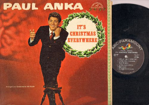 Anka, Paul - It's Christmas Everywhere: Santa Claus Is Coming To Town, Rudolph The Red-Nosed Reindeer, Jingle Bells, Winter Wonderland, White Christmas (Vinyl MONO LP record) - EX8/VG7 - LP Records