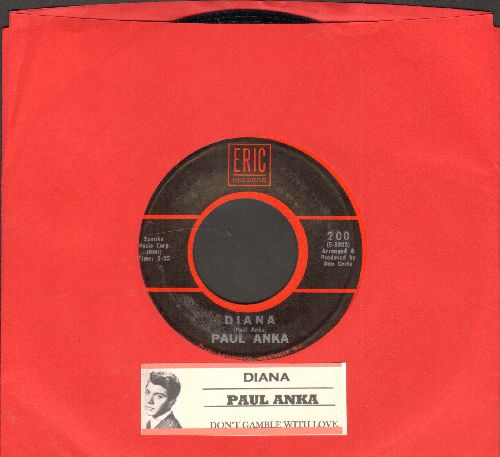 Anka, Paul - Diana/Don't Gamble With Love (1970s re-issue with jue box label) - NM9/ - 45 rpm Records