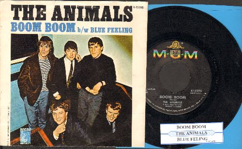 Animals - Boom Boom/Blue Feeling (with juke box label and picture sleeve) - VG7/EX8 - 45 rpm Records