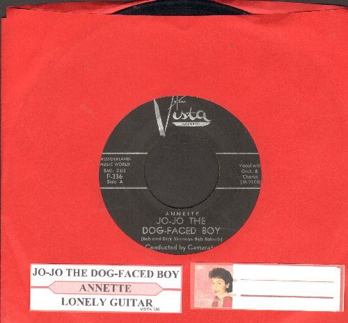 Annette - Jo-Jo The Dog-Faced Boy/Lonely Guitar (black label first issue with juke box label) - VG7/ - 45 rpm Records