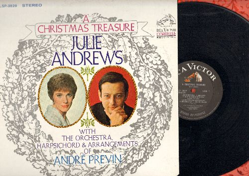 Andrews, Julie - A Christmas Treasure: Joy To The World, Deck The Halls, Jingle Bells, Greensleeves, Away In The Manger 9vinyl STEREO LP record) - NM9/EX8 - LP Records