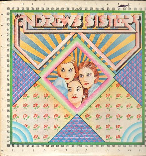 Andrews Sisters - The Best Of: Rum And Coca-Cola, Beer Barrel Polka, Rhumboogie, Sonny Boy, Boogie Woogie Bugle Boy (2 vinyl LP records, gate-fold cover, 1973 issue of vintage Big Band recordings) - NM9/EX8 - LP Records
