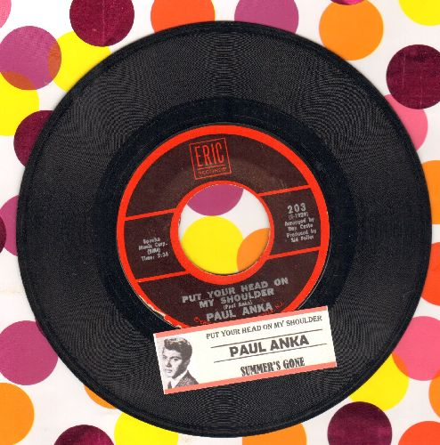 Anka, Paul - Put Your Head On My Shoulder/Summer's Gone (double-hit re-issue with juke box label) - VG7/ - 45 rpm Records