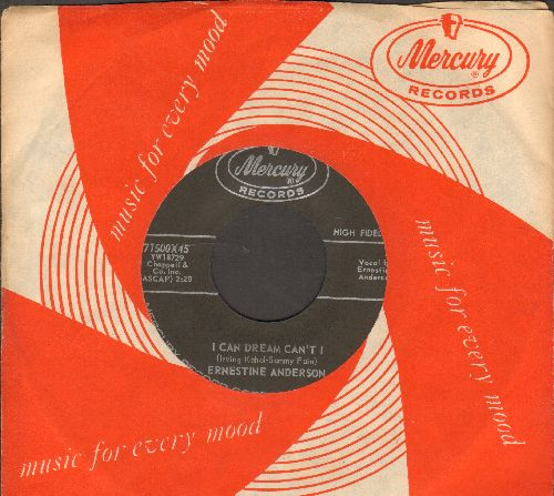 Anderson, Ernestine - I Can Dream Can't I/I Heard You Cried Last Night (with vintage Mercury company sleeve) - NM9/ - 45 rpm Records