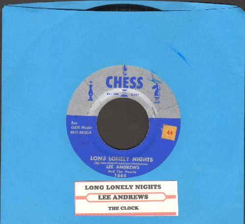 Andrews, Lee & The Hearts - Long Lonely Nights/The Clock (with juke box label) - EX8/ - 45 rpm Records