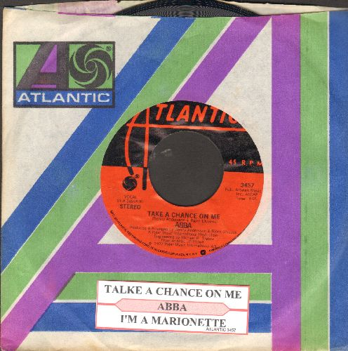 ABBA - Take A Chance On Me/I'm A Marionette (with juke box label and Atlantic company sleeve) - NM9/ - 45 rpm Records
