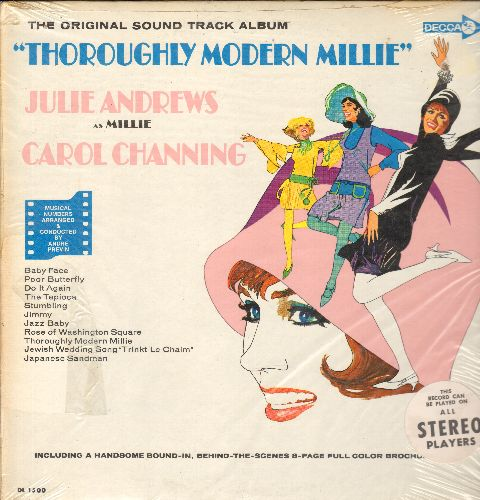 Andrews, Julie, Carol Channing - Thoroughly Modern Millie: The Original Sound Track Album (Vinyl LP record) - Baby Face, Do It Again, The Tapioca, Japanese Sandman, Jazz Baby (includes color picture album) (SEALED, never opened!) - SEALED/SEALED - LP Reco