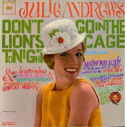 Andrews, Julie - Don't Go In The Lion's Cage Tonight: I Don't Care, Alexander's Ragtime Band, By The Light Of The Silvery Moon, Smarty (vinyl MONO LP record) - M10/EX8 - LP Records