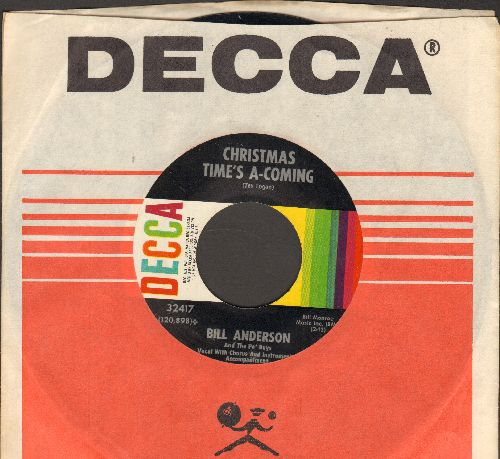 Anderson, Bill - Christmas Time's A-Coming/Po' Folks' Christmas (with Decca company sleeve) - NM9/ - 45 rpm Records