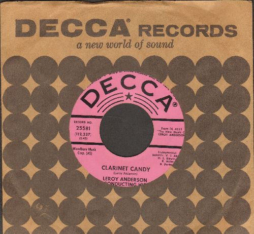 Anderson, Leroy & His Orchestra - Clarinet Candy/Lazy Moon (DJ advance pressing with vintage Decca company sleeve) - NM9/ - 45 rpm Records