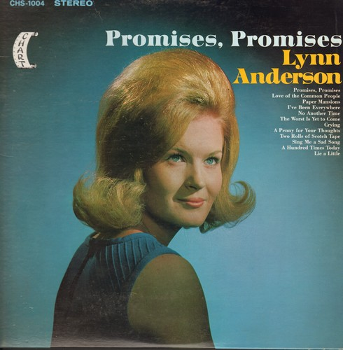 Anderson, Lynn - Promises, Promises: Love Of The Common People, Crying, A Penny For Your Thoughts, Paper Mansions (Vinyl STEREO LP record) - NM9/EX8 - LP Records