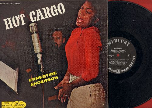 Anderson, Ernestine - Hot Cargo!: Mad About The Boy, Day Dream, Experiment, Love For Sale, My Man, Little Girl Blue, Wrap Your Troubles In Dreams (Vinyl MONO LP record, 1958 first pressing) - NM9/EX8 - LP Records