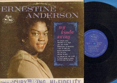 Anderson, Ernestine - My Kinda Swing:: Trouble Is A Man, See See Rider, It Don't Mean A Thing (If It Ain't Got That Swing), Lamd Of Dreams (Vinyl MONO LP record) - NM9/VG7 - LP Records