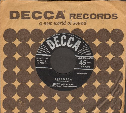 Anderson, Leroy - Serenata/Plink, Plank, Plunk! (with vintage Decca company sleeve) - NM9/ - 45 rpm Records