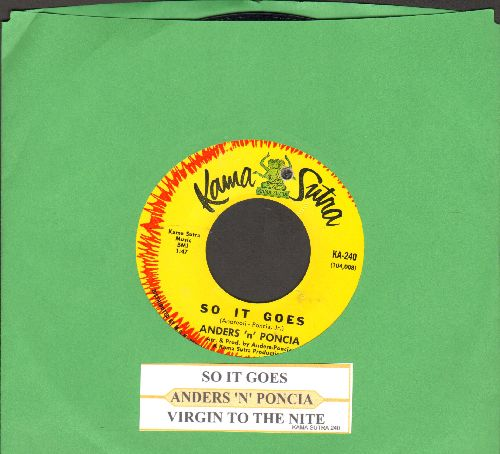 Anders 'N' Pontia - So It Goes/Virgin To The Nite (with juke box label) (bb) - NM9/ - 45 rpm Records
