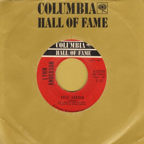 Anderson, Lynn - Rose Garden/You're My Man (re-issue with Columbia company sleeve) - EX8/ - 45 rpm Records