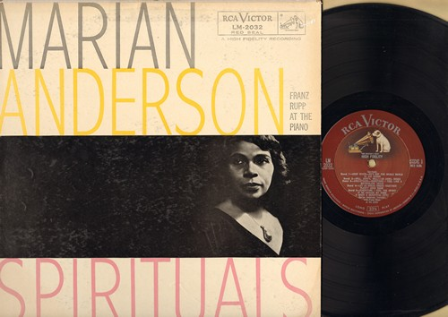 Anderson, Marian - Spirituals: Deep River/He's Got The Whole World In His Hands, Nobody Knows The Trouble I See, Roll Jerd'n Roll (Vinyl MONO LP record, RARE vintage Red Seal Pressing) - EX8/VG7 - LP Records