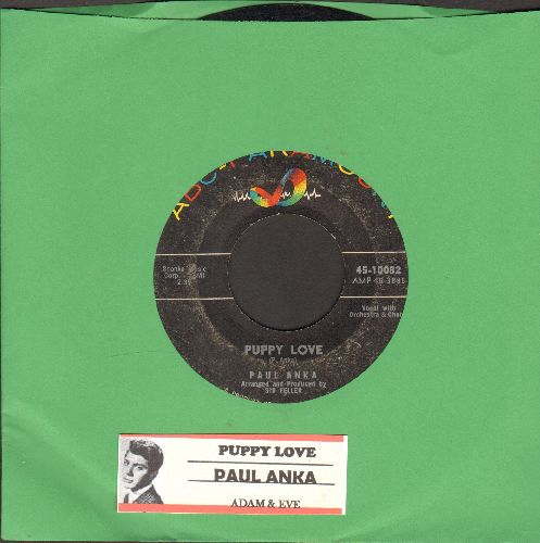 Anka, Paul - Puppy Love/Adam And Eve (with ABC-Paramount company sleeve) - VG7/ - 45 rpm Records