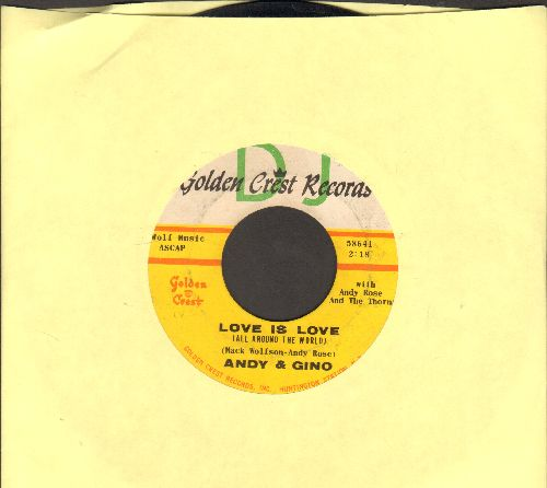 Andy & Gino - Love Is Love (All Around The World)/Just For Fun - EX8/ - 45 rpm Records