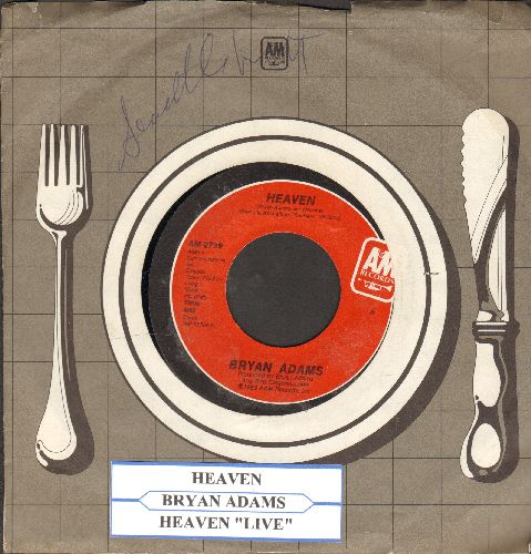 Adams, Bryan - Heaven/Heaven (Live) (with juke box label and company sleeve) - NM8/ - 45 rpm Records