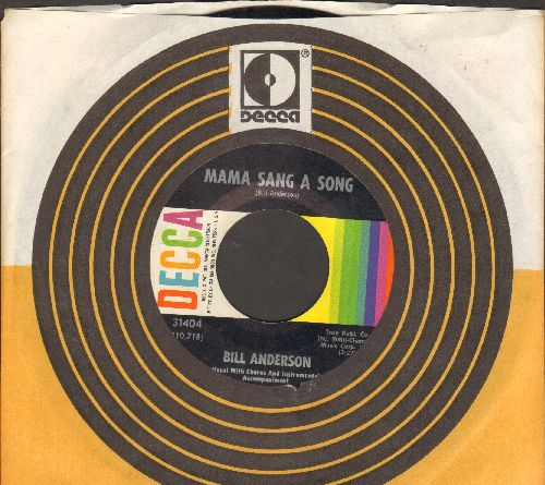 Anderson, Bill - Mama Sang A Song/On And On And On (with Decca company sleeve) - NM9/ - 45 rpm Records