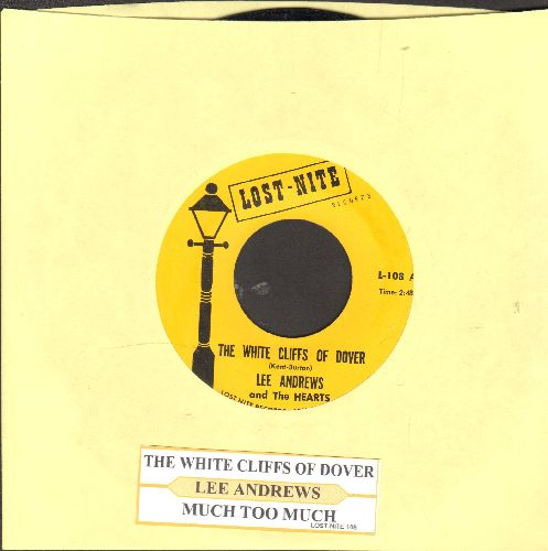 Andrews, Lee & The Hearts - The White Cliff Of Dover/Much Too Much (early double-hit re-issue with juke box label) - NM9/ - 45 rpm Records