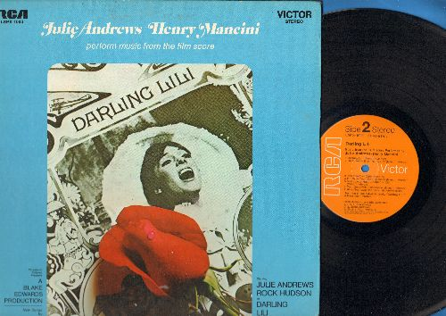 Andrews, Julie - Darling Lili - Original Motion Picture Sound Track, Music by Henry Mancini. (Vinyl STEREO LP record, gate-fold cover, small cut-out on lower right cover) - NM9/EX8 - LP Records