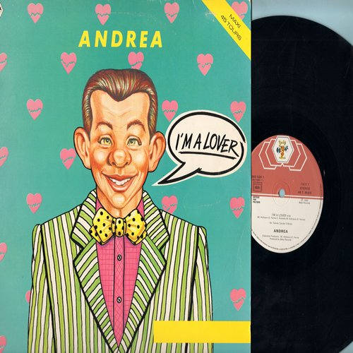 Andrea - I'm A Lover (6:06 minutes Vocal Disco Version)/I'm A Lover (4:09 minutes Instrumental Version) (12 inch 45rpm Maxi Single, French Pressing) - NM9/EX8 - Maxi Singles