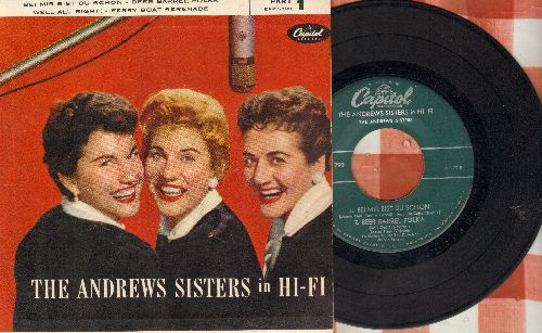 Andrews Sisters - The Andrews Sisters In Hi-Fi: Bei Mir Bist Du Schoen/Beer Barrel Polka/Well All Right!/Ferry Boat Serenade (vinyl EP record with picture cover) - VG7/EX8 - 45 rpm Records