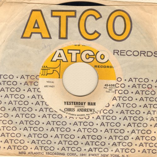 Andrews, Chris - Yesterday Man/Too Bad You Don't Want Me  - VG7/ - 45 rpm Records