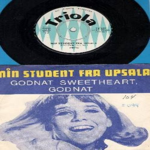 Belgvad, Anette - Min Student fra Upsala/Godnat Sweethart, Godnat (Danish version of -Goodnight, Sweetheart, Goodnight-) (Danish Pressing with picture sleeve, sung in Danish) - EX8/VG7 - 45 rpm Records